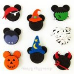 Halloween Mickey Mouse Oreo Cookies decorated using candy clay are fun to make for your Halloween parties.